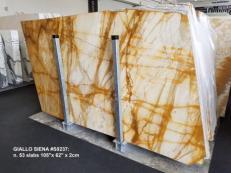 Lieferung polierte Unmaßplatten 2 cm aus Natur Marmor GIALLO SIENA S0237. Detail Bild Fotos