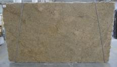 Lieferung polierte Unmaßplatten 3 cm aus Natur Granit GIALLO VENEZIANO C-16777. Detail Bild Fotos