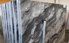 Lieferung polierte Unmaßplatten 2 cm aus Natur Marmor GRIGIO OROBICO AA T0044A. Detail Bild Fotos