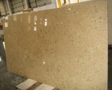 Lieferung geschliffene Unmaßplatten 3 cm aus Natur Kalkstein HALILA WITH FOSSILS - JS5555 J_07067. Detail Bild Fotos