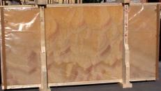 Lieferung polierte Unmaßplatten 2 cm aus Natur Onyx HONEY ONYX 14361_L4. Detail Bild Fotos