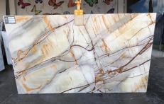 Lieferung polierte Unmaßplatten 2 cm aus Natur Quarzit ISOLA BLUE AA U0112. Detail Bild Fotos