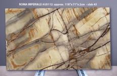 Lieferung polierte Unmaßplatten 2 cm aus Natur Quarzit ISOLA BLUE U0112. Detail Bild Fotos