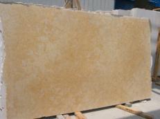 Lieferung geschliffene Unmaßplatten 3 cm aus Natur Kalkstein JERUSALEM GOLD DARK JS3632 J_07064. Detail Bild Fotos