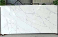 Lieferung polierte Unmaßplatten 3 cm aus künstlichem Aglo Quarz LUCCA V7010. Detail Bild Fotos