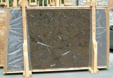 Lieferung polierte Unmaßplatten 2 cm aus Natur Marmor MARRON FOSSIL E-13771. Detail Bild Fotos
