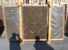 Lieferung polierte Unmaßplatten 2 cm aus Natur Marmor MARRON FOSSIL edi222mf. Detail Bild Fotos