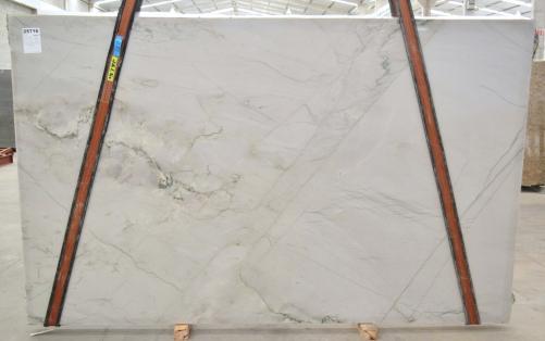 Lieferung polierte Unmaßplatten 3 cm aus Natur Quarzit MONT BLANC BQ02280. Detail Bild Fotos