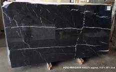 Lieferung polierte Unmaßplatten 2 cm aus Natur Marmor NERO MARQUINA U0251. Detail Bild Fotos