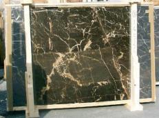 Lieferung polierte Unmaßplatten 2 cm aus Natur Marmor NOIR SAINT LAURENT E-14526. Detail Bild Fotos