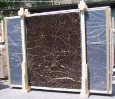 Lieferung polierte Unmaßplatten 2 cm aus Natur Marmor NOIR SAINT LAURENT E-NSL14745. Detail Bild Fotos