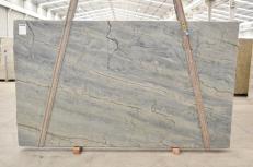 Lieferung polierte Unmaßplatten 3 cm aus Natur Quarzit OCEAN BLUE 2382. Detail Bild Fotos