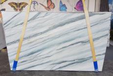 Lieferung polierte Unmaßplatten 2 cm aus Natur Quarzit ONDA BLUE AA T0100. Detail Bild Fotos