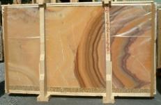 Lieferung polierte Unmaßplatten 2 cm aus Natur Onyx ONICE ARCOIRIS E-14216/B. Detail Bild Fotos