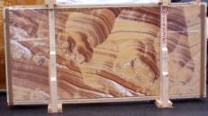 Lieferung polierte Unmaßplatten 2 cm aus Natur Onyx ONICE ARCOIRIS E-14535. Detail Bild Fotos