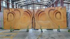 Lieferung polierte Unmaßplatten 2 cm aus Natur Onyx ONICE ARCOIRIS Raimbow. Detail Bild Fotos
