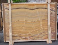 Lieferung polierte Unmaßplatten 2 cm aus Natur Onyx ONICE ARCOIRIS E-OAI14742. Detail Bild Fotos