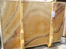 Lieferung polierte Unmaßplatten 2 cm aus Natur Onyx ONICE ARCOIRIS EDM25109. Detail Bild Fotos
