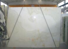 Lieferung polierte Unmaßplatten 2 cm aus Natur Onyx ONICE BIANCO SR-2010119. Detail Bild Fotos