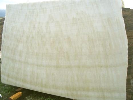 Lieferung polierte Unmaßplatten 2 cm aus Natur Onyx ONICE FEATHER EDM25129. Detail Bild Fotos
