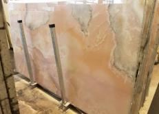 Lieferung polierte Unmaßplatten 2 cm aus Natur Onyx ONICE ROSA AA S0242. Detail Bild Fotos