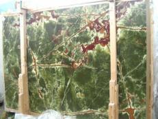 Lieferung polierte Unmaßplatten 2 cm aus Natur Onyx ONICE VERDE SCURO E_H352. Detail Bild Fotos