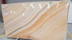 Lieferung polierte Unmaßplatten 2 cm aus Natur Onyx ONYX ARCOBALENO Rapsody. Detail Bild Fotos