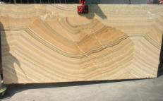 Lieferung polierte Unmaßplatten 2 cm aus Natur Onyx ONYX ARCOBALENO E_H463. Detail Bild Fotos