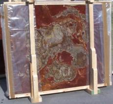 Lieferung polierte Unmaßplatten 2 cm aus Natur Onyx ONYX MULTICOLOR E_15102. Detail Bild Fotos