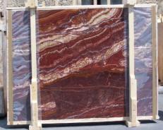 Lieferung polierte Unmaßplatten 2 cm aus Natur Onyx ONYX RED EXTRA E-14637. Detail Bild Fotos