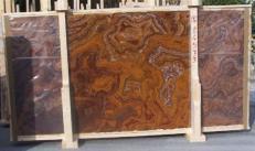 Lieferung polierte Unmaßplatten 2 cm aus Natur Onyx ONYX RED E-14533. Detail Bild Fotos