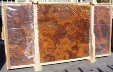Lieferung polierte Unmaßplatten 2 cm aus Natur Onyx ONYX RED E-14533B. Detail Bild Fotos