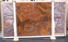 Lieferung polierte Unmaßplatten 2 cm aus Natur Onyx ONYX RED E-OR14640. Detail Bild Fotos