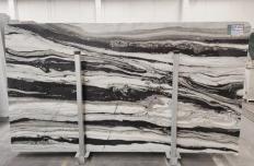 Lieferung polierte Unmaßplatten 3 cm aus Natur Marmor PANDA GREY D-7130. Detail Bild Fotos