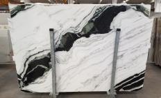 Lieferung polierte Unmaßplatten 2 cm aus Natur Marmor PANDA 1517M. Detail Bild Fotos