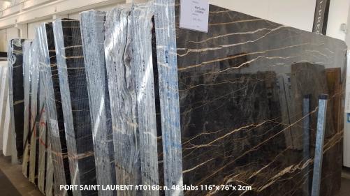 Lieferung polierte Unmaßplatten 2 cm aus Natur Marmor PORT SAINT LAURENT T0160. Detail Bild Fotos