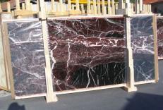 Lieferung polierte Unmaßplatten 2 cm aus Natur Marmor ROSSO LEVANTO E-14915. Detail Bild Fotos