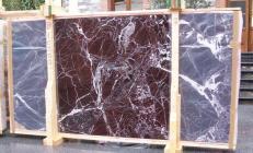 Lieferung polierte Unmaßplatten 2 cm aus Natur Marmor ROSSO LEVANTO E-10003. Detail Bild Fotos