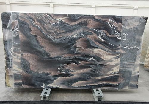 Lieferung polierte Unmaßplatten 2 cm aus Natur Marmor ROSSO LUANA 1208. Detail Bild Fotos