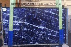 Lieferung polierte Unmaßplatten 2 cm aus Natur Marmor SODALITE AA 2062. Detail Bild Fotos