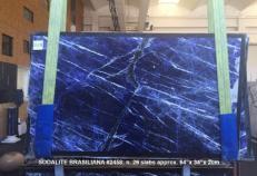 Lieferung polierte Unmaßplatten 2 cm aus Natur Marmor SODALITE AA 2458. Detail Bild Fotos