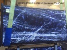 Lieferung polierte Unmaßplatten 2 cm aus Natur Marmor SODALITE AA 2522. Detail Bild Fotos
