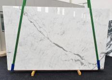 Lieferung polierte Unmaßplatten 3 cm aus Natur Marmor STATUARIETTO 1416. Detail Bild Fotos
