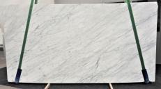 Lieferung polierte Unmaßplatten 2 cm aus Natur Marmor STATUARIETTO GL 987. Detail Bild Fotos