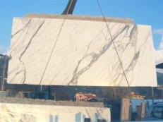 Lieferung polierte Unmaßplatten 2 cm aus Natur Marmor STATUARIO VENATO E_1442. Detail Bild Fotos