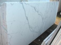 Lieferung polierte Unmaßplatten 2 cm aus Natur Marmor STATUARIO VENATO E-1203. Detail Bild Fotos