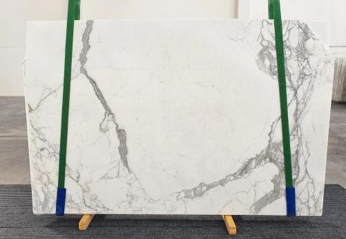Lieferung polierte Unmaßplatten 2 cm aus Natur Marmor STATUARIO VENATO 1225. Detail Bild Fotos