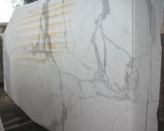 Lieferung polierte Unmaßplatten 2 cm aus Natur Marmor STATUARIO E-O411. Detail Bild Fotos