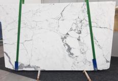 Lieferung polierte Unmaßplatten 2 cm aus Natur Marmor STATUARIO GL 979. Detail Bild Fotos