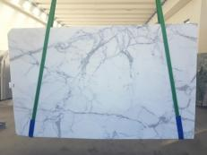 Lieferung polierte Unmaßplatten 2 cm aus Natur Marmor STATUARIO GL 1111. Detail Bild Fotos